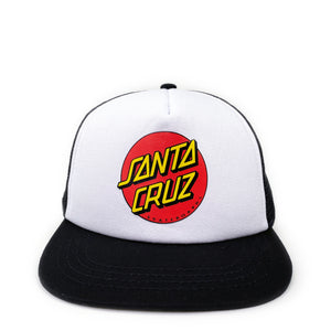 Santa Cruz  Youth Classic Dot Cap - Black / White - Prime Delux Store