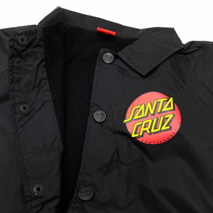Santa Cruz Youth Classic Dot Coach Jacket - Black - Prime Delux Store