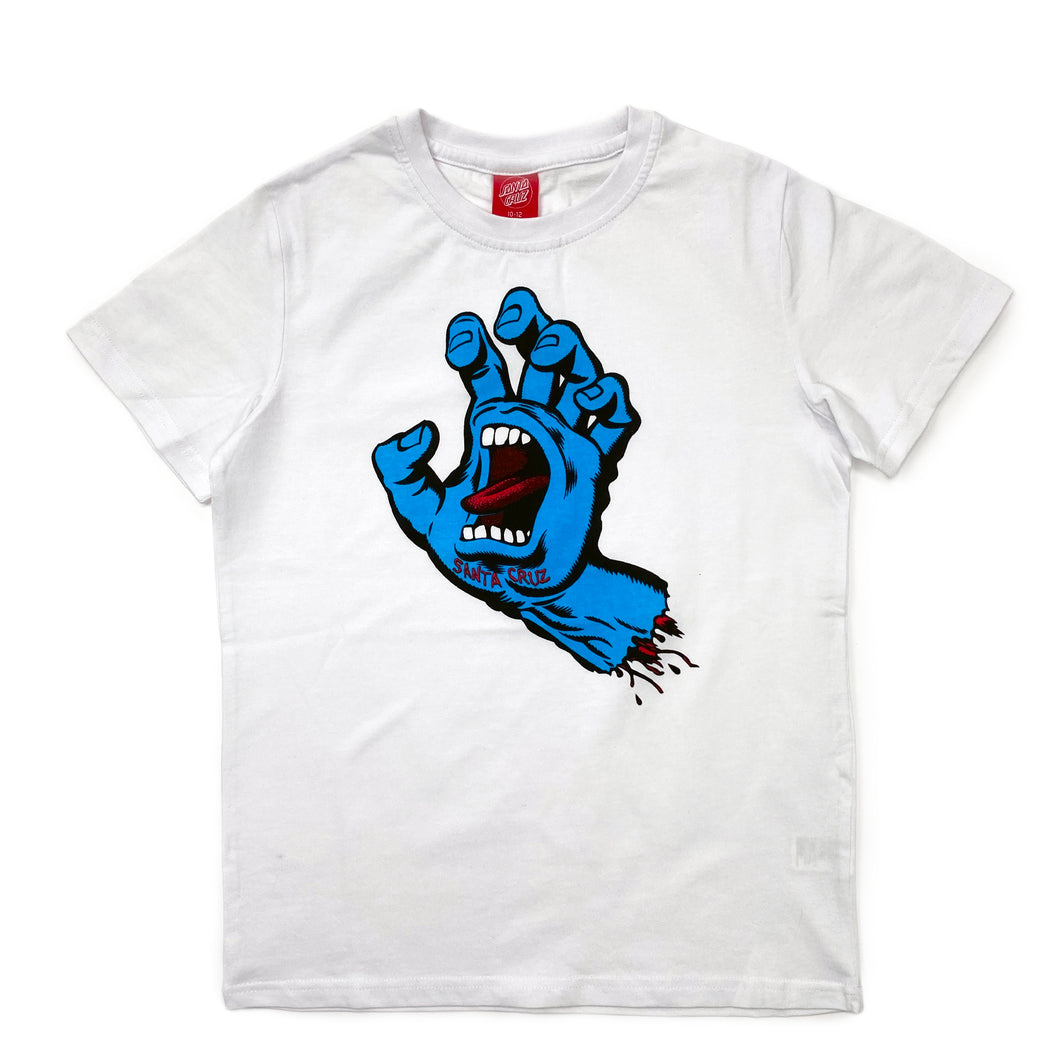 Santa Cruz Youth OS Screaming Hand T Shirt - White - Prime Delux Store
