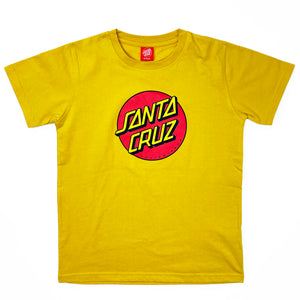 Load image into Gallery viewer, Santa Cruz Youth Classic Dot T-Shirt - Mustard - Prime Delux Store