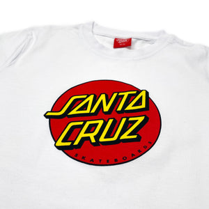 Load image into Gallery viewer, Santa Cruz Youth Classic Dot T-Shirt - White - Prime Delux Store