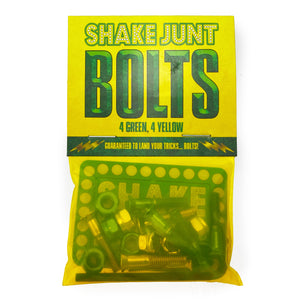Load image into Gallery viewer, Shake Junt 1' Allen Key Truck Bolts - Green / Yellow - Prime Delux Store