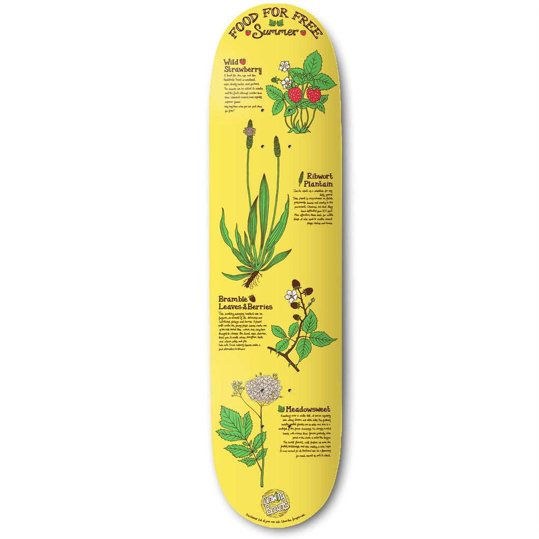 The Drawing Boards Food For Free Summer Skateboard Deck - 8.5