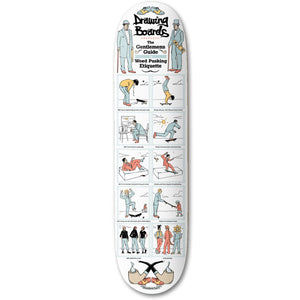 "The Drawing Boards Gentlemen's Guide Skateboard Deck - 8.25"" - Prime Delux Store"
