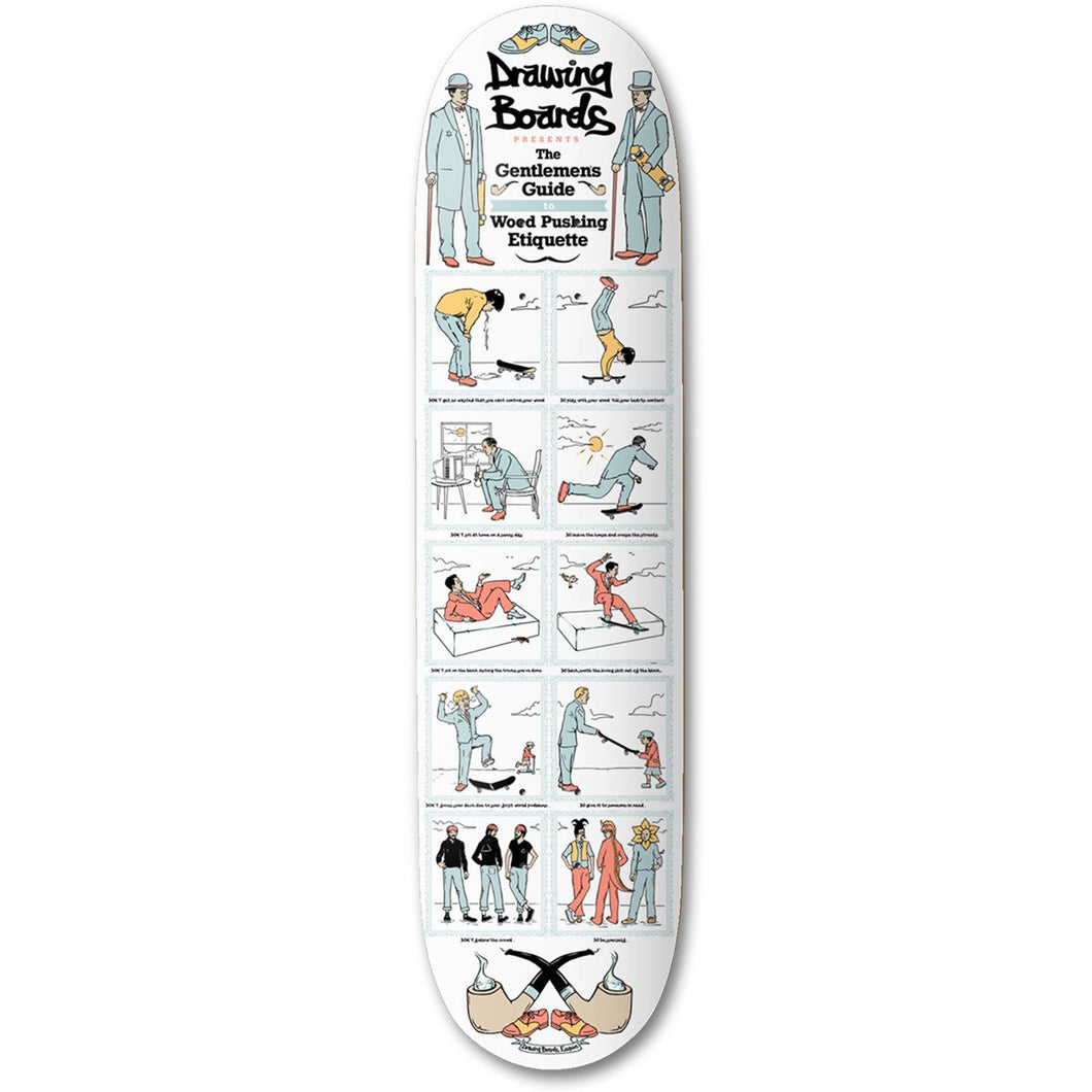 The Drawing Boards Gentlemen's Guide Skateboard Deck - 8.25