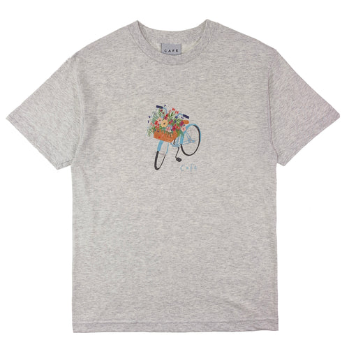 Skateboard Cafe - Flower Basket T Shirt - Ash Heather - Prime Delux Store