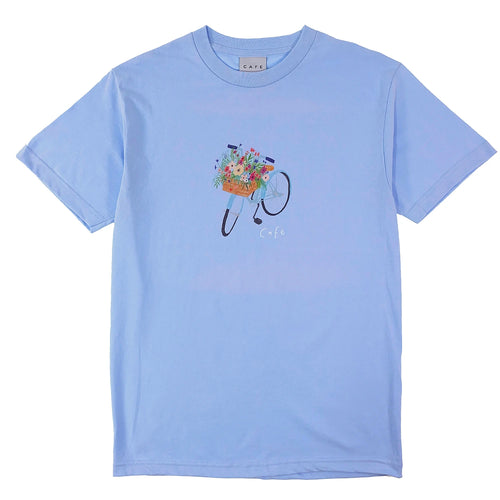 Skateboard Cafe - Flower Basket T Shirt - Powder Blue - Prime Delux Store
