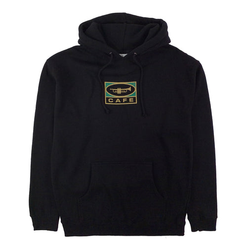 Skateboard Cafe - Trumpet Logo Hooded Sweat - Black - Prime Delux Store