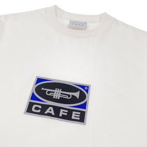Load image into Gallery viewer, Skateboard Cafe - Trumpet Logo T Shirt - White - Prime Delux Store