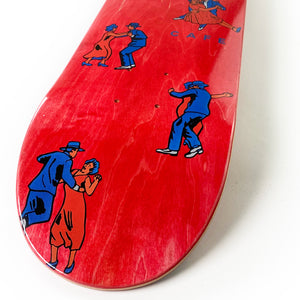 "Load image into Gallery viewer, Skateboard Cafe Dance All Over Deck Red - 7.75"" - Prime Delux Store"
