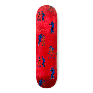 "Skateboard Cafe Dance All Over Deck Red - 7.75"" - Prime Delux Store"