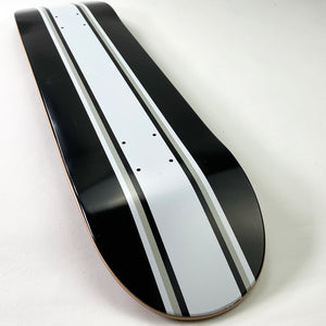 "Load image into Gallery viewer, Skateboard Cafe Stripe Deck Black / White - 7.75"" - Prime Delux Store"