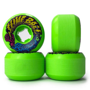 Santa Cruz Slime Balls Vomit Mini Wheels Neon Green - 54mm - Prime Delux Store