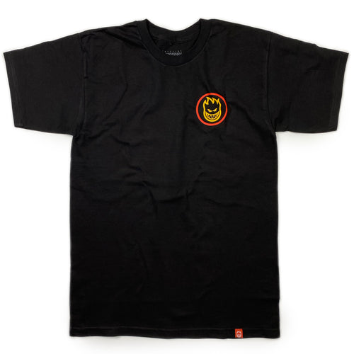 Spitfire Classic Swirl T Shirt - Black / Red / Gold / Olive - Prime Delux Store