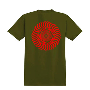 Spitfire Youth Classic Swirl T-Shirt - Military Green / Red - Prime Delux Store