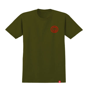 Load image into Gallery viewer, Spitfire Youth Classic Swirl T-Shirt - Military Green / Red - Prime Delux Store