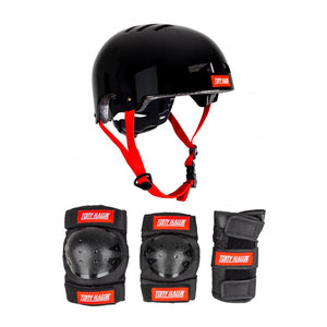 Tony Hawk Junior Protective Set Helmet & Padset - Black/Red - Prime Delux Store