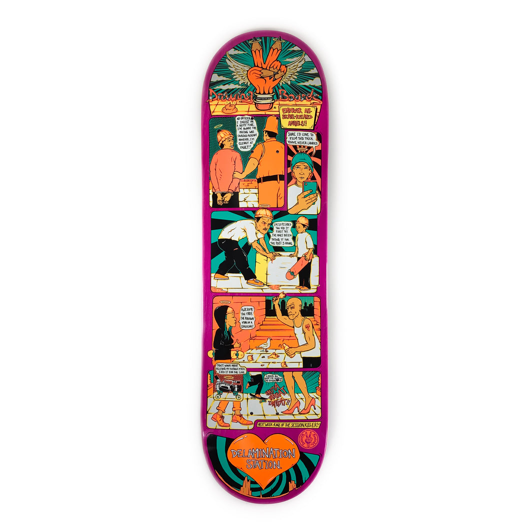 The Drawing Boards Deck - Empower your Skate-Related Angels - 8.25
