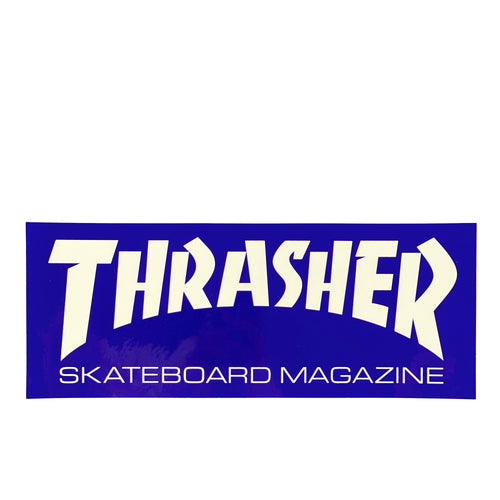 Thrasher Magazine Sticker L - Blue / White - Prime Delux Store