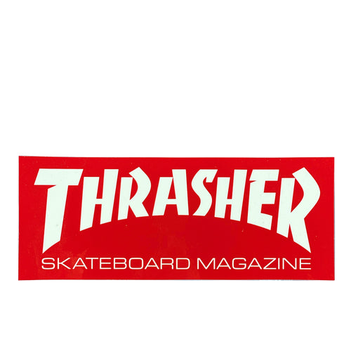 Thrasher Magazine Sticker L - Red / White - Prime Delux Store