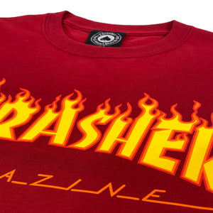 Load image into Gallery viewer, Thrasher Flame Logo T Shirt - Cardinal Red - Prime Delux Store