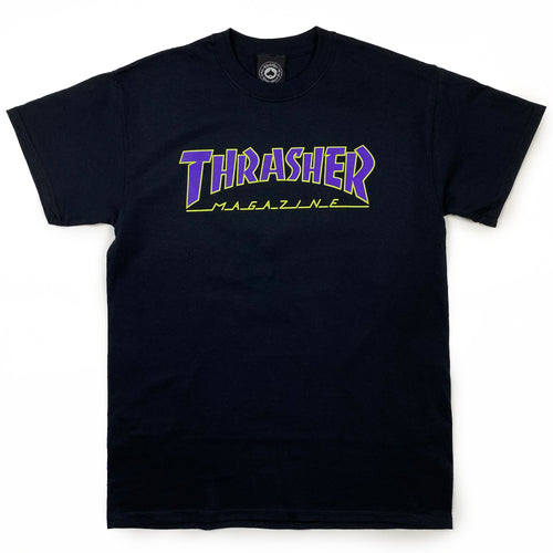 Thrasher Outlined Logo T Shirt - Black - Prime Delux Store