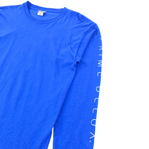 Prime Delux Unity Long Sleeve T Shirt - Royal Blue / White - Prime Delux Store