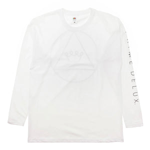 Load image into Gallery viewer, Prime Delux Tri Crown Long Sleeve T Shirt - White / Black - Prime Delux Store