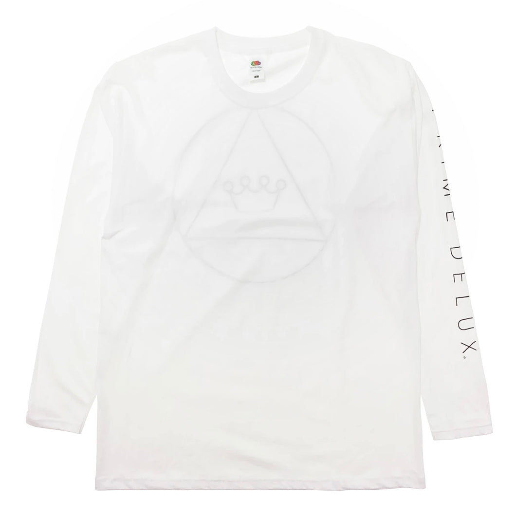 Prime Delux Tri Crown Long Sleeve T Shirt - White / Black - Prime Delux Store