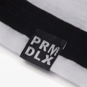 Load image into Gallery viewer, Prime Delux Striped Short Sleeve T Shirt Black / White - Prime Delux Store