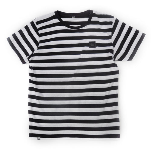 Prime Delux Striped Short Sleeve T Shirt Black / White - Prime Delux Store