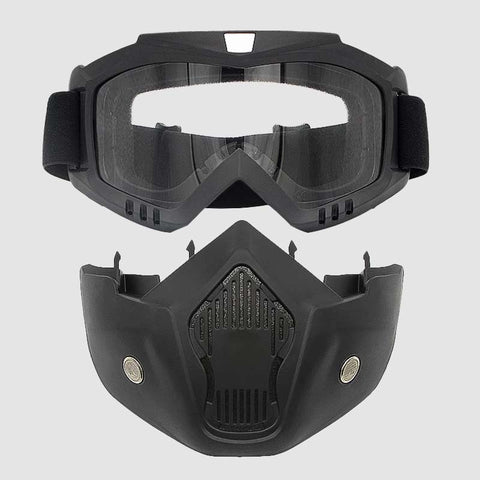 detachable goggles and mask for snowboarders