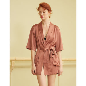 Maya brown one piece bathrobes robes nightwear sexy secretsaffair