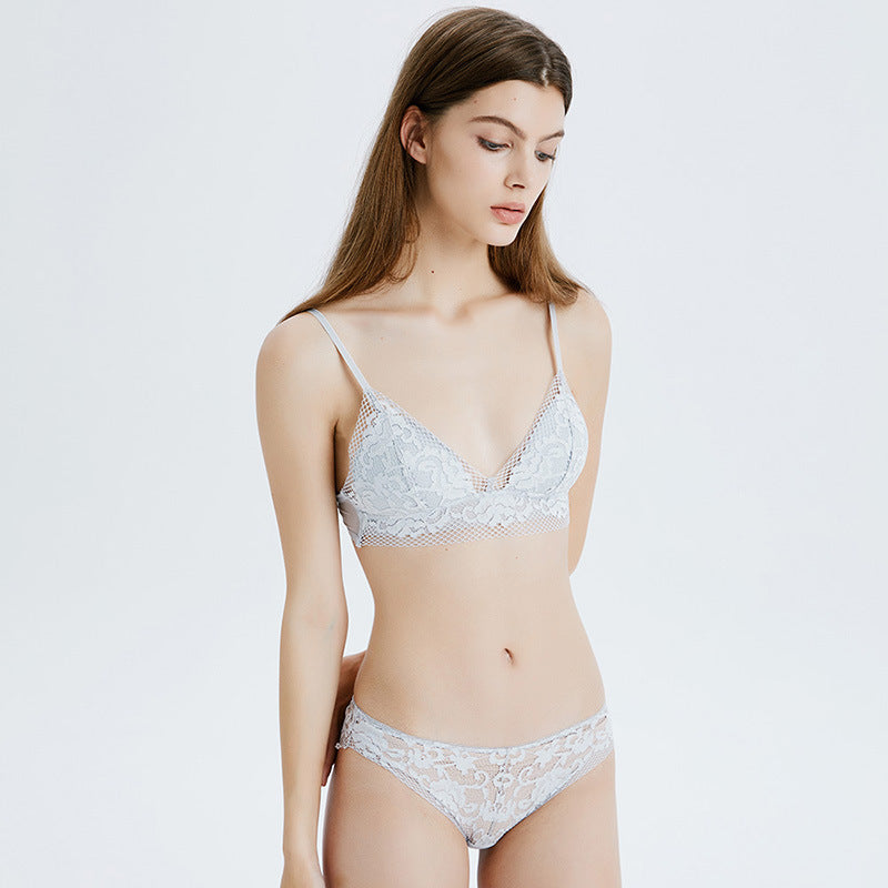 Ariel ash grey strap laces flower flora lacy comfortable comfort sexy sensual hook secretsaffair
