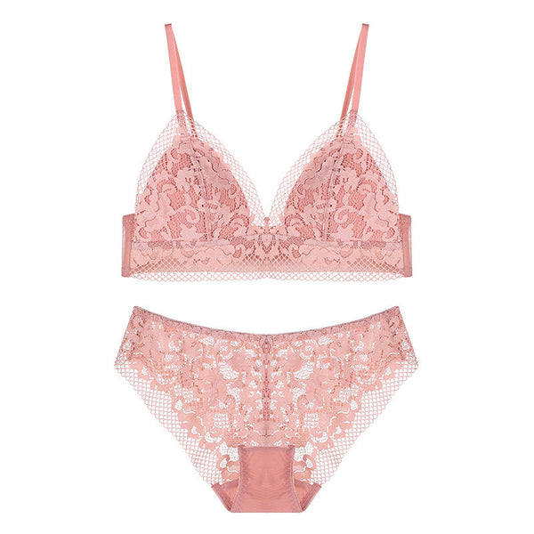 Luna - Ariel light pink strap laces flower flora lacy comfortable comfort sexy sensual hook secretsaffair