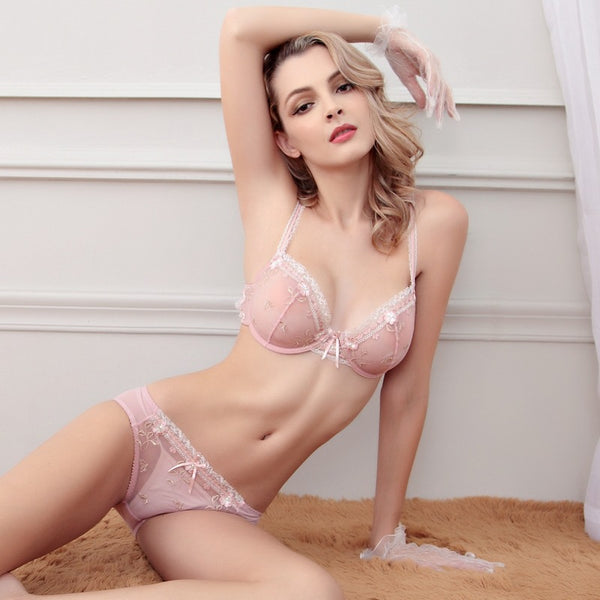 Polaris - Candy Crush flower flora pastel pink everyday panties bra sheer cotton lace laces lacy sexy pretty cute strap comfort sensual seduction hook secrets affair