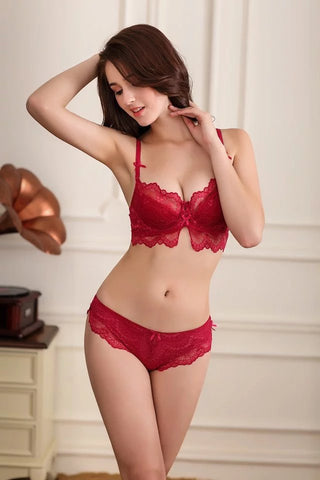 red sexy sensual bra lingerie lacy laces strap panty panties tank top hook comfortable comfort secretsaffair
