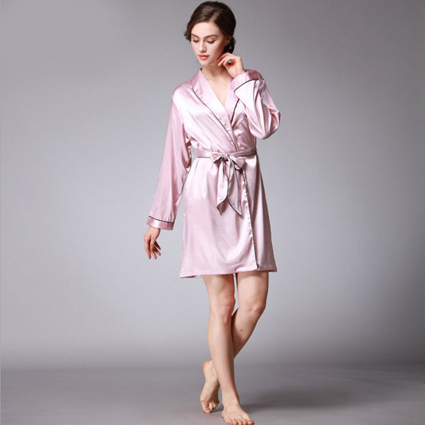 Qandisa - Dancė grape light purple one piece robe silk nightwear seduction secrets affair