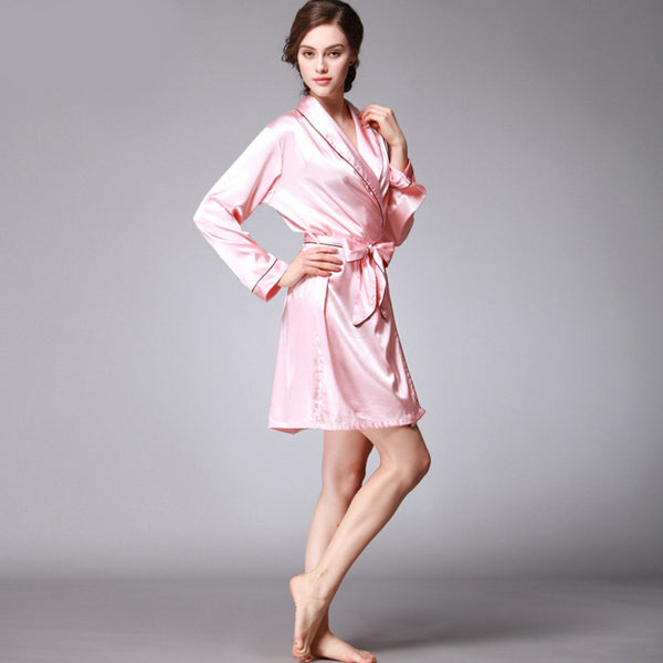 Qandisa - Dancė pastel pink one piece robe silk nightwear seduction secrets affair