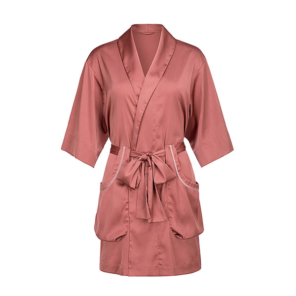 Qandisa - Maya brown bathrobes robes nightwear sexy secretsaffair