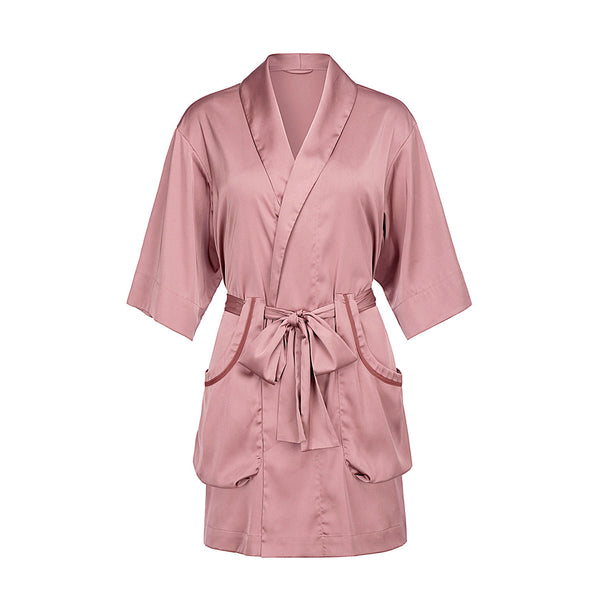 Qandisa - Maya pink bathrobes robes nightwear sexy secretsaffair