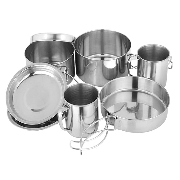 8 Piece Camping Cookware