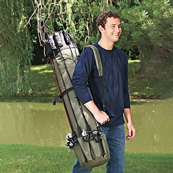 Fishing Rod Gear Storage Bag Large Capacity Lightweight Waterproof