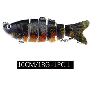 4 inch  Multi Jointed Lifelike Fishing Lure 6 Segment
