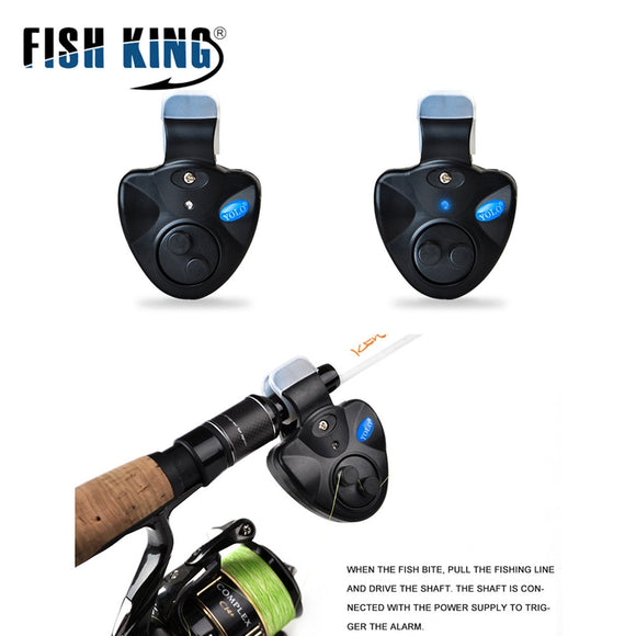 FISH KING High quality  Fishing Bite Alarms Wireless Clip-On  LED Light