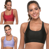 Women Solid Sports Bra Activewear Workout Clothes