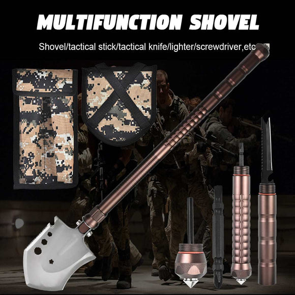Outdoor Multi-purpose Shovel Military Tactical Folding Shovel Camping Portable Survival Security Garden Tools