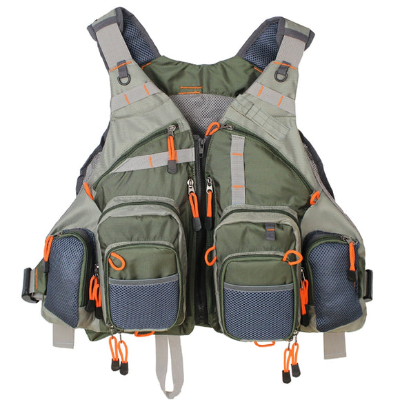 Men's Fly Fishing Vest Adjustable Size Multiple Pockets