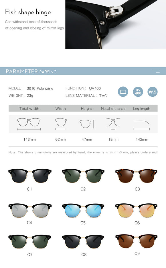 Polarized Sunglasses Men Women RB3016 Brand Design UV400
