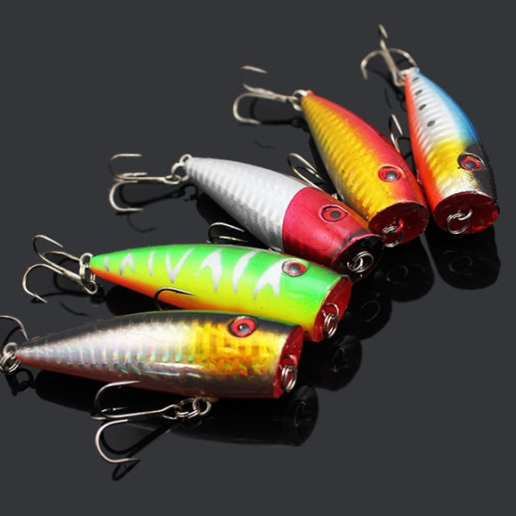5PCS Big Mouth Popper Fishing Lure